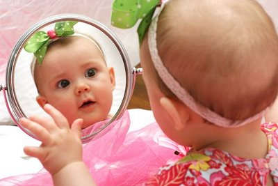 baby and mirror