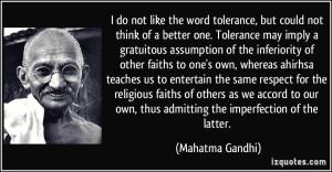 gandhi-tolerance